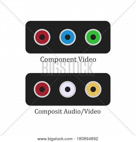 Component composit illustration on the white background. Vector illustration