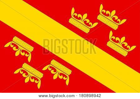Flag of Haut-Rhin is a department in the Grand Est region of France. Vector illustration