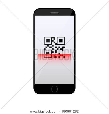 qr code scanning on mobile phone red qr code scanner
