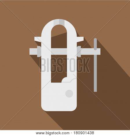 Blacksmiths vice icon. Flat illustration of blacksmiths vice vector icon for web