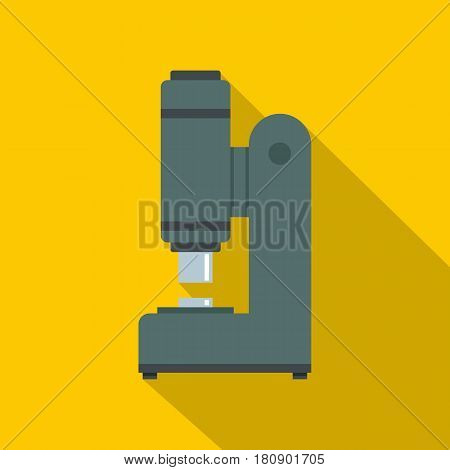 Blacksmith automatic hammer icon. Flat illustration of blacksmith automatic hammer Blacksmiths vice vector icon for web