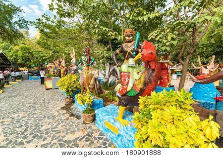Thailand Mythology Garden In Wat Muang Complex