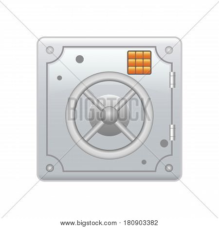 steel safe Armored box with a combination lock. Reliable Data Protection. Long-term savings. Deposit box icon. Protection of personal information.