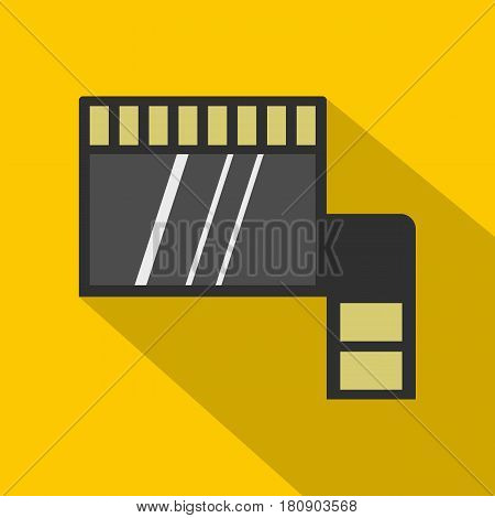Memory card icon. Flat illustration of memory card vector icon for web