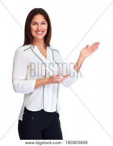 Business woman presenter