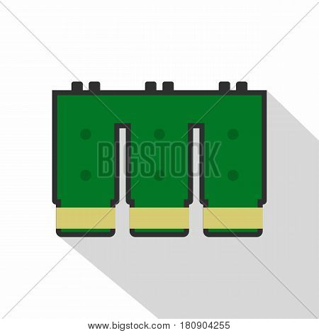 Electronic circuit board icon. Flat illustration of electronic circuit board vector icon for web