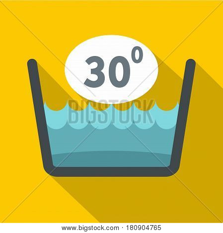 Delicate gentle thirty degrees washing laundry symbol icon. Flat illustration of delicate gentle thirty degrees washing laundry symbol vector icon for web