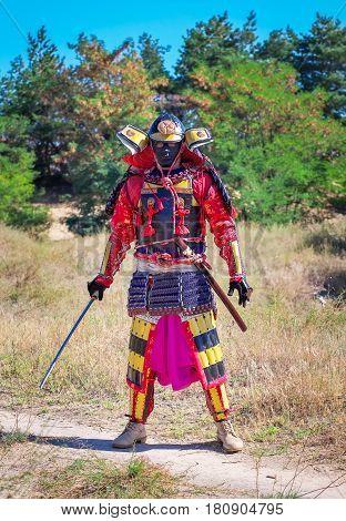 Men in samurai armour with sword. Original Character
