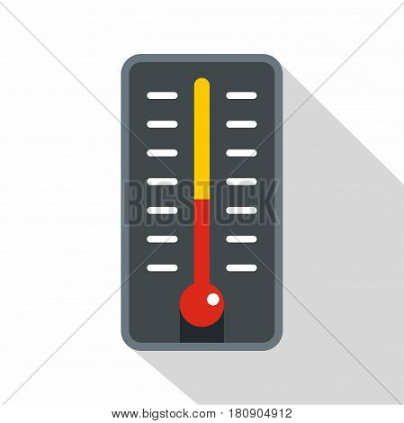 Room thermometer icon. Flat illustration of room thermometer vector icon for web