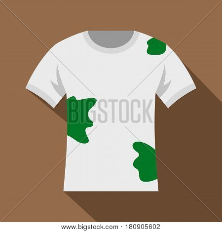 Dirty shirt icon. Flat illustration of dirty shirt vector icon for web
