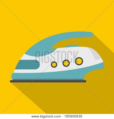 Modern electric iron icon. Flat illustration of modern electric iron vector icon for web