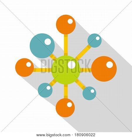 Chemical and physical atoms icon. Flat illustration of chemical and physical atoms vector icon for web