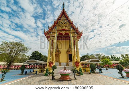 Beautiful Buddhist Architecture Building