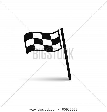 Checkered racing flag icon vector isolated ilustration.