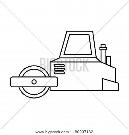 Flattening machine isolated icon vector illustration design