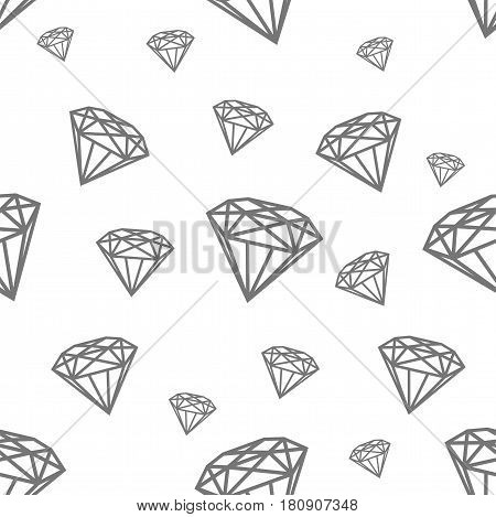 Modern pattern with diamonds. Jewerly black and white pattern for design