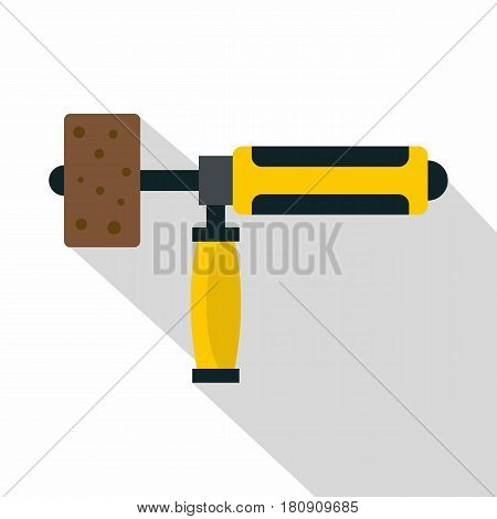 Precision grinding machine icon. Flat illustration of precision grinding machine vector icon for web poster