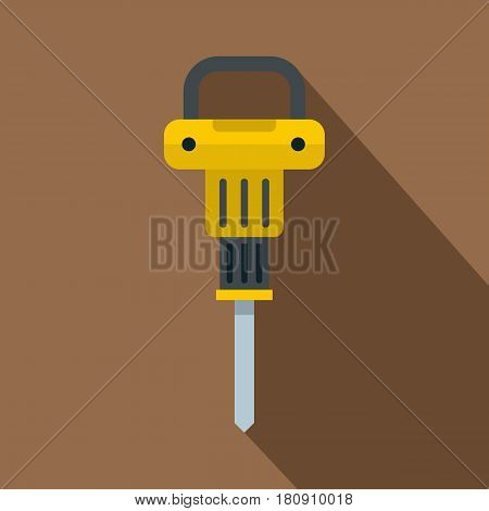 Pneumatic hammer icon. Flat illustration of pneumatic hammer vector icon for web