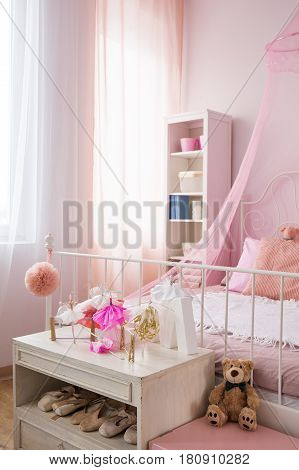 Pink Bedroom Of A Girl
