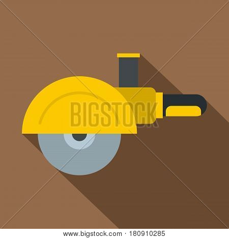 High speed cut off machine icon. Flat illustration of high speed cut off machine vector icon for web
