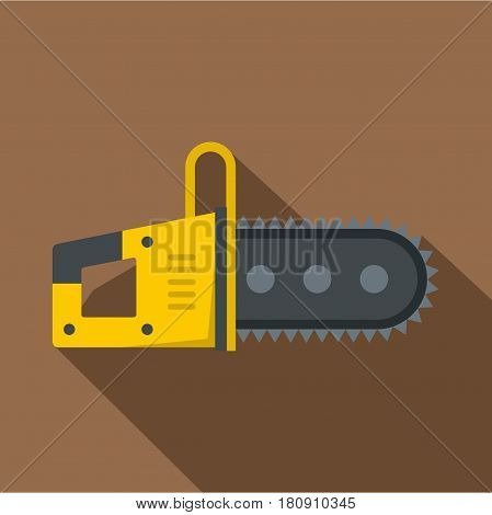 Chainsaw icon. Flat illustration of chainsaw vector icon for web