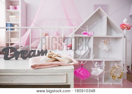 Room Interior With Dollhouse