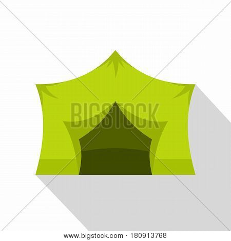 Camping equipment icon. Flat illustration of camping equipment vector icon for web