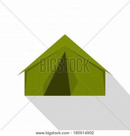 Tourist or a military tent icon. Flat illustration of tourist or a military tent vector icon for web