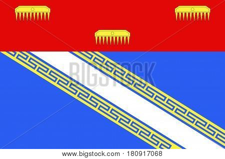 Flag of Ardennes is a department in the Grand Est region of northeastern France. Vector illustration