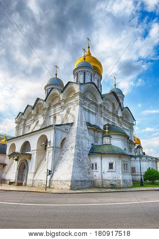 Cathedral of the Archangel in Moscow Kremlin ancient orthodox church of Russia