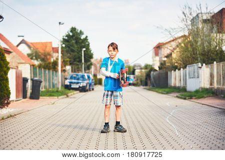 Boy With Broken Hand