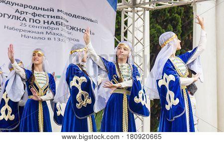 ABKHAZIA, SUKHUMI - SEPTEMBER 25, 2016: IV Internetional Youth Art festival was held in Sukhumi capital of Abkhazia