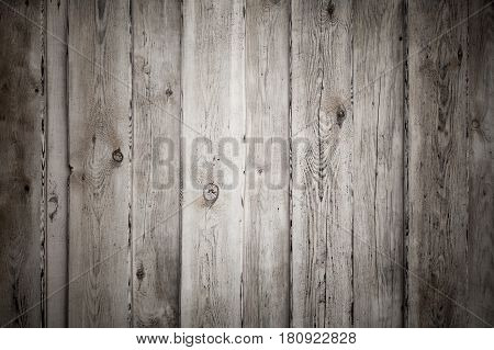 Uncolored Old Grungy Wooden Wall Flat Texture