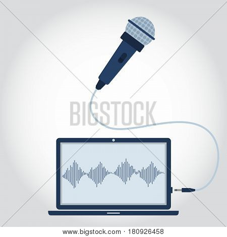 Laptop And Microphone