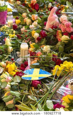 Floral Tributes in Stockholm, Terrorism attack
