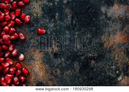 Red Pomegranate Seeds Borders