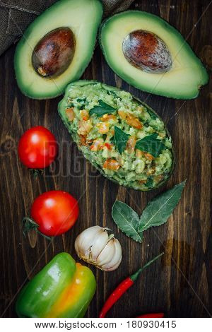 Guacamole In Avocado Skin Bowl - Organic And Natural.