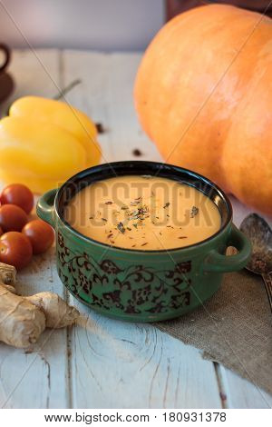 Ginger And Pumpkin Soup Ready To Eat