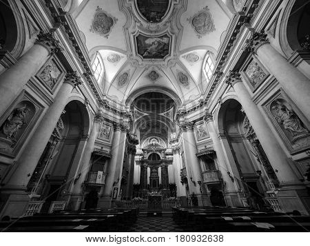 I Gesuati Church In Venice In Black And White