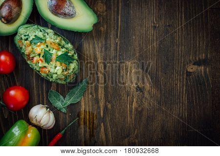 Guacamole In Avocado Skin Bowl - Organic And Natural.