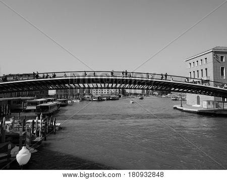 Ponte Della Costituzione In Venice In Black And White