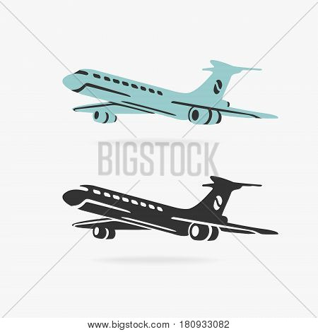Airplane Sign Vector eps 8 file format