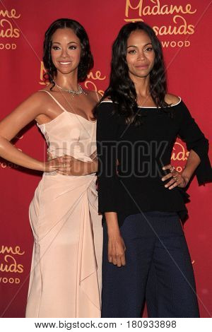 LOS ANGELES - APR 7:  Zoe Saldana Wax Figure, Zoe Saldana at the Madame Tussauds Hollywood Zoe Saldana Wax Figure Unveiling  at the Madame Tussauds Hollywood on April 7, 2017 in Los Angeles, CA