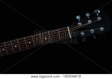 Guitar Strings close up. Acoustic guitar acoustic music instrument musical water splash action movement