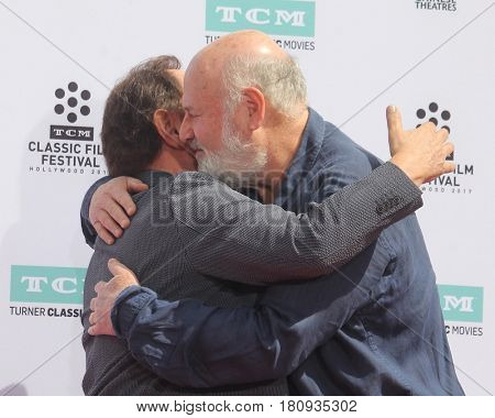 LOS ANGELES - APR 7:  Billy Crystal, Rob Reiner at the Carl and Rob Reiner Hand and Footprint Ceremony at the TCL Chinese Theater IMAX on April 7, 2017 in Los Angeles, CA