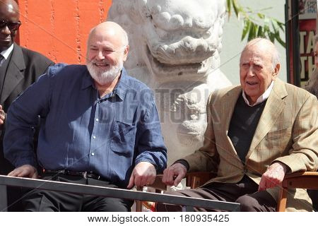 LOS ANGELES - APR 7:  Rob Reiner, Carl Reiner at the Carl and Rob Reiner Hand and Footprint Ceremony at the TCL Chinese Theater IMAX on April 7, 2017 in Los Angeles, CA