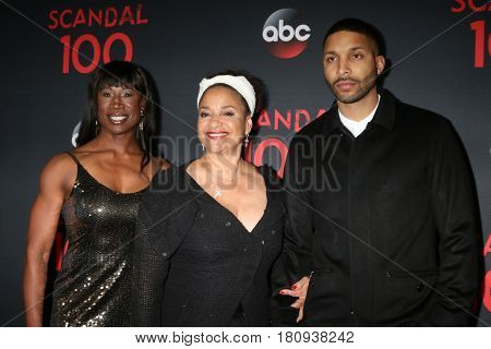 LOS ANGELES - APR 8:  Lauren Anderson, Debbie Allen, Norm Nixon Jr at the