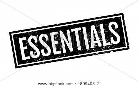 Essentials rubber stamp. Grunge design with dust scratches. Effects can be easily removed for a clean, crisp look. Color is easily changed.