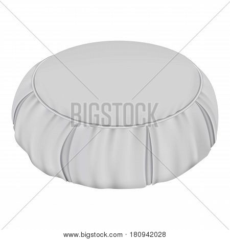 White round pillow mockup. Realistic illustration of white round pillow vector mockup for web