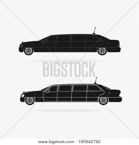 Limousine Car Icon Vector eps 8 file format